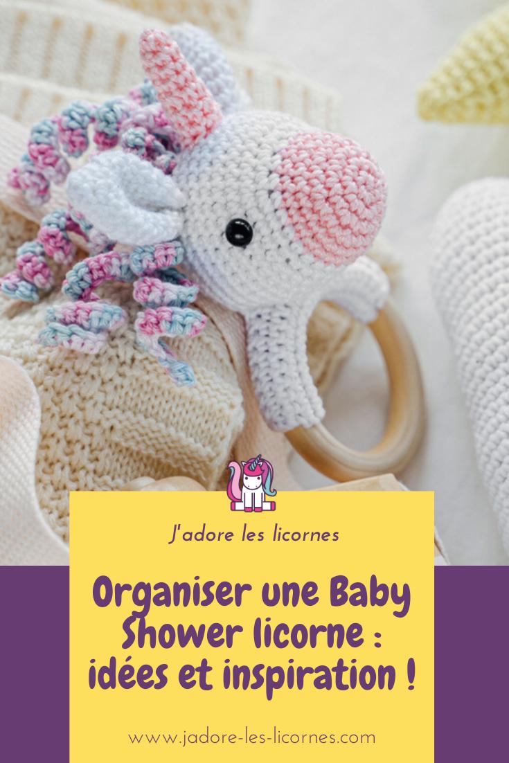 Tu organises une fête prénatale ? On te donne plein d'idées de décoration et de jeux pour organiser la plus belle des baby shower licorne !