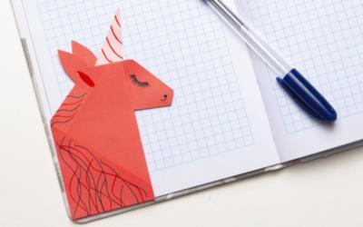 Faire un marque-page kawaii en origami licorne   le tuto facile