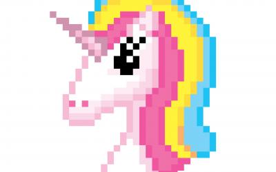 Le Pixel Art Licorne Facile | Dessin Kawaii sur Papier